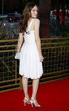 Emmy Rossum. WEST HOLLYWOOD, CALIFORNIA. Monday April 28, 2008. Emmy Rossum attends the Launch of the Scarlet HD TV Series held at the Pacific Design Center in Royalty Free Stock Photo