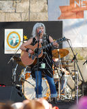 Emmylou Harris and band on stage at Newport Folk Festival Stock Images