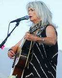 Emmylou Harris and band on stage at Newport Folk Festival Royalty Free Stock Image