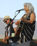 Emmylou Harris and band on stage at Newport Folk Festival Stock Photography