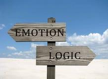 Emoção contra a lógica Foto de Stock Royalty Free