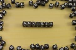A emoção da ansiedade Foto de Stock Royalty Free