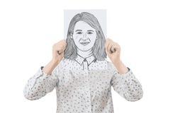 Emoção da cara da coberta imagem de stock royalty free