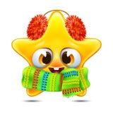 Emoção da estrela em um lenço Imagens de Stock Royalty Free