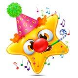 emoção da estrela felicitada em seu aniversário Fotos de Stock Royalty Free