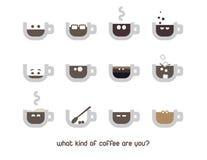 Emoção do copo de café ilustração royalty free