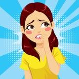 Emoção do medo da mulher ilustração do vetor