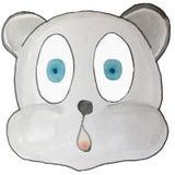 Emoção dos desenhos animados, urso cinzento, surpreendido ilustração royalty free