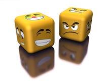 Emoção espelhada com dados ilustração stock