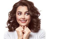 Emoção 'sexy' da mulher da beleza Fotos de Stock Royalty Free
