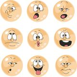 A emoção sorri o grupo de cor alaranjado 010 Foto de Stock Royalty Free