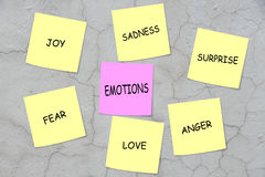 emoções Fotografia de Stock