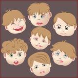Emoções, caras das crianças Imagem de Stock Royalty Free
