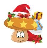 Emoções da cara dos desenhos animados do Natal Imagens de Stock Royalty Free
