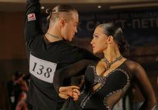Emoções da dança Fotografia de Stock Royalty Free
