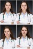 Emoções de um doutor Imagem de Stock Royalty Free