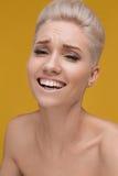 Emoções de uma jovem mulher Imagem de Stock