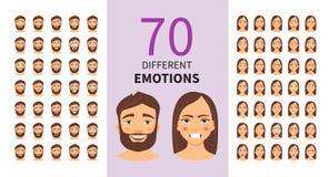 Emoções diferentes ilustração royalty free