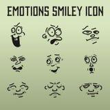 Emoções diferentes para a banda desenhada no fundo velho Imagens de Stock