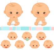 Emoções do bebê Imagem de Stock