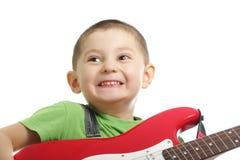 Emoções do guitarrista Imagem de Stock Royalty Free