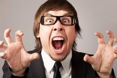 Emoções do negócio - raiva Imagens de Stock