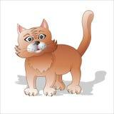Emoções dos animais O gato vermelho surpreendido ilustração do vetor