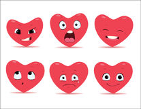 Emoções dos corações Imagens de Stock