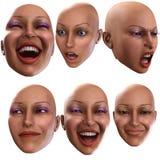 Emoções fêmeas 3 Fotos de Stock