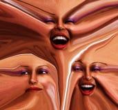 Emoções fêmeas Freaky 2 Fotografia de Stock