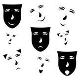 Emoções na máscara Imagens de Stock