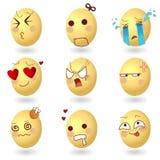 Emoções Set1 do vetor dos ovos ilustração stock