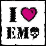 emo ι αγάπη Στοκ Εικόνες