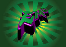 Emo 3D graffiti. Stock Photography