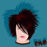 Emo adolescente sembrante arrabbiato Fotografie Stock Libere da Diritti