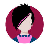 Emo avatar Stock Image