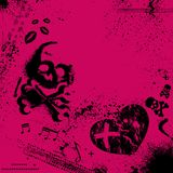 Emo background. Pink and black background. eps10 Royalty Free Stock Photo