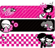 Emo banners royalty free illustration