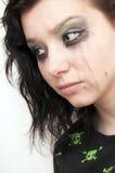 Emo Beautiful Girl Crying Stock Images