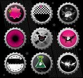 Emo Bottle Caps. Stock Image