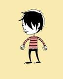 Emo chłopiec royalty ilustracja