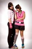 Emo de dos muchachas Fotos de archivo