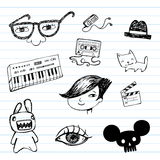 Emo doodle set Stock Photography