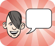Emo face with speech bubble Royalty Free Stock Image