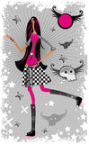 Emo Fashion girl 2. To see similar , please visit my gallery Royalty Free Stock Photography