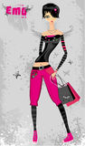 Emo Fashion Girl Royalty Free Stock Images