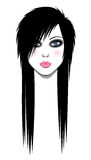 Emo girl Royalty Free Stock Photography