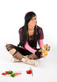 EMO girl Royalty Free Stock Photo