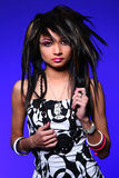 Emo girl. With fashion hairstyle royalty free stock images