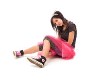 Emo girl isolated Stock Images